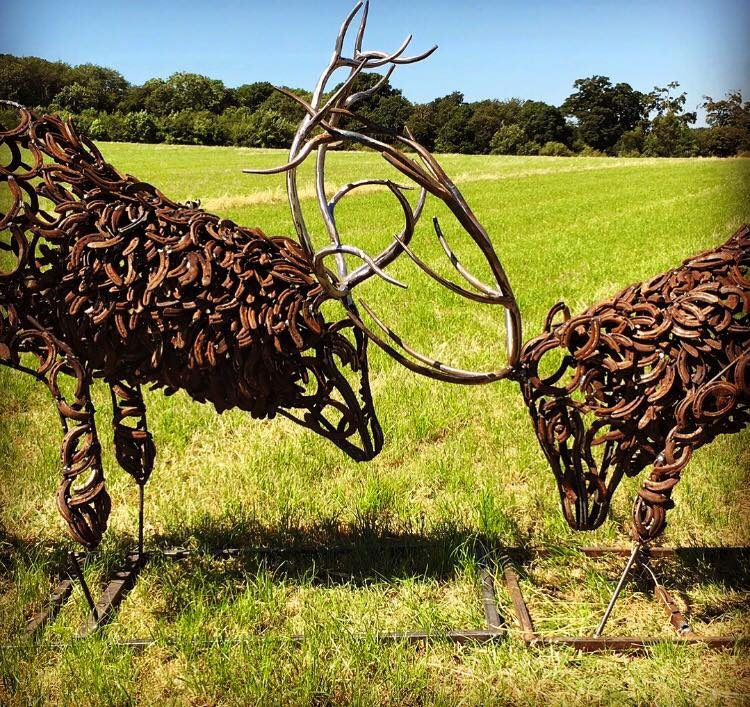Fighting Stags Sculpture
