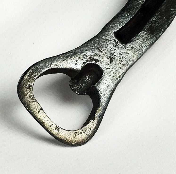 Hand Forged Horseshoe Style Bottle Opener Handle