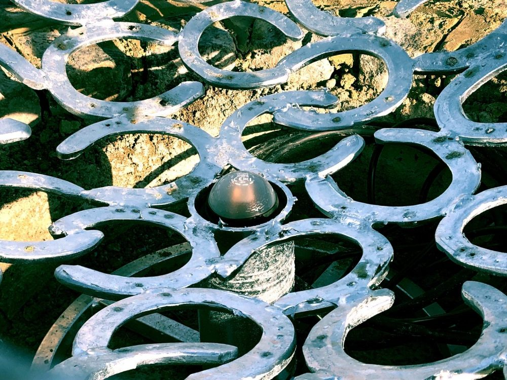 Inside Horseshoe Sphere Sculpture