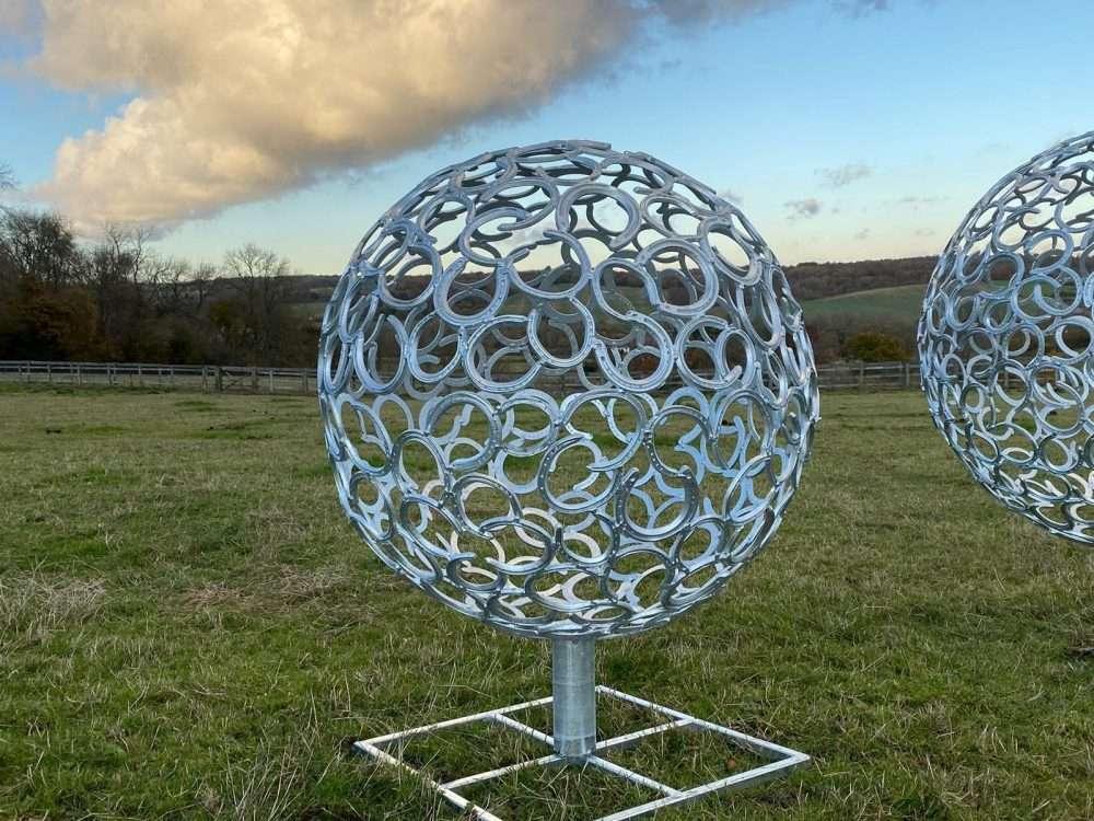 Small Horseshoe Sphere Sculpture