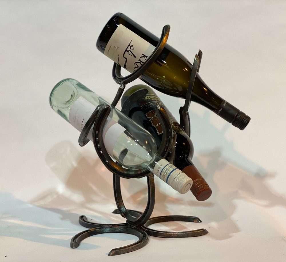 Bottle Horseshoe Wine Rack
