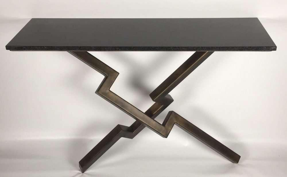 Front View Of Lien Croix Console Table