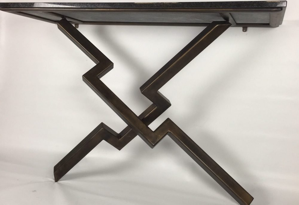 Bottom Of Lien Croix Console Table