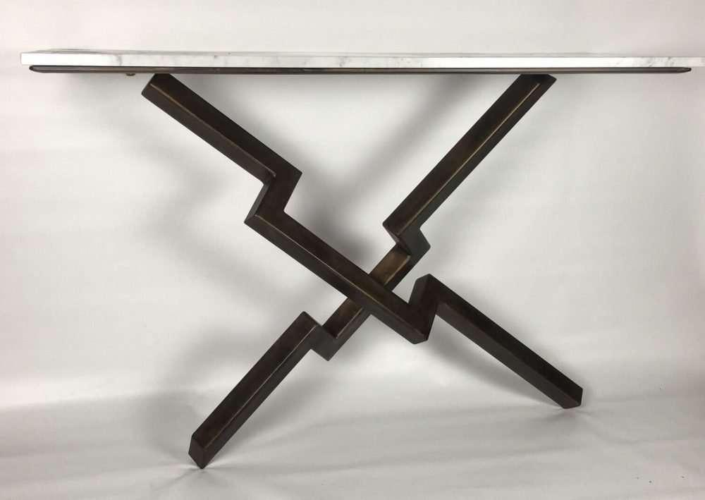 White Marble Lien Croix Console Table