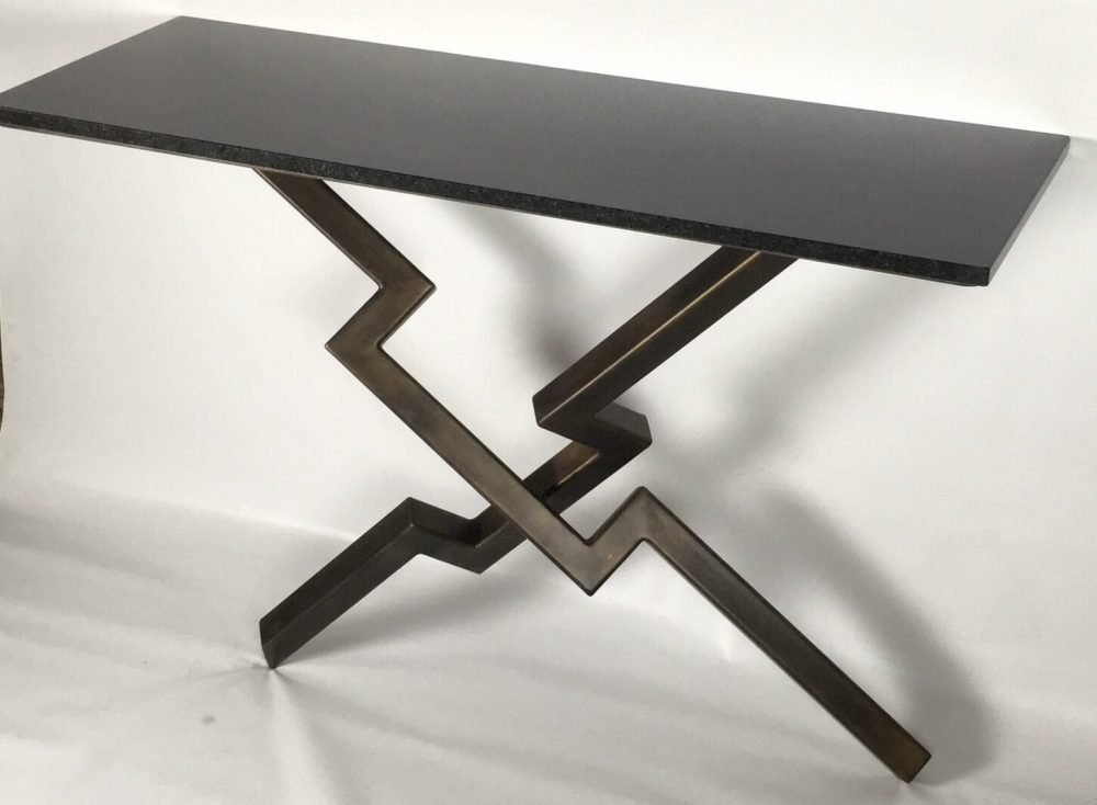 Side View Of Lien Croix Console Table