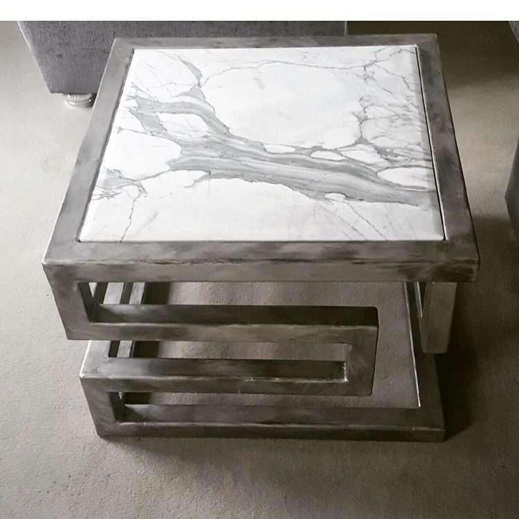 Lien Croix Side Table Marble