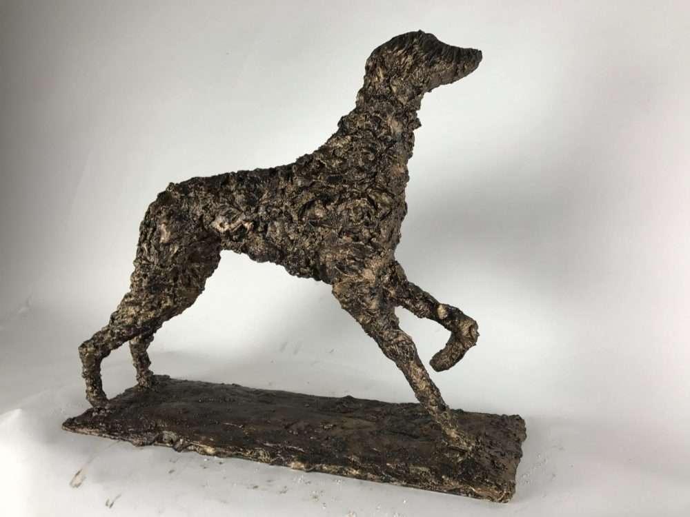DOG BRONZE SCULPTURE Gallery Elliott of london