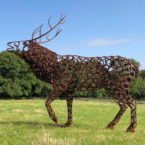 Brass Bellowing Stag