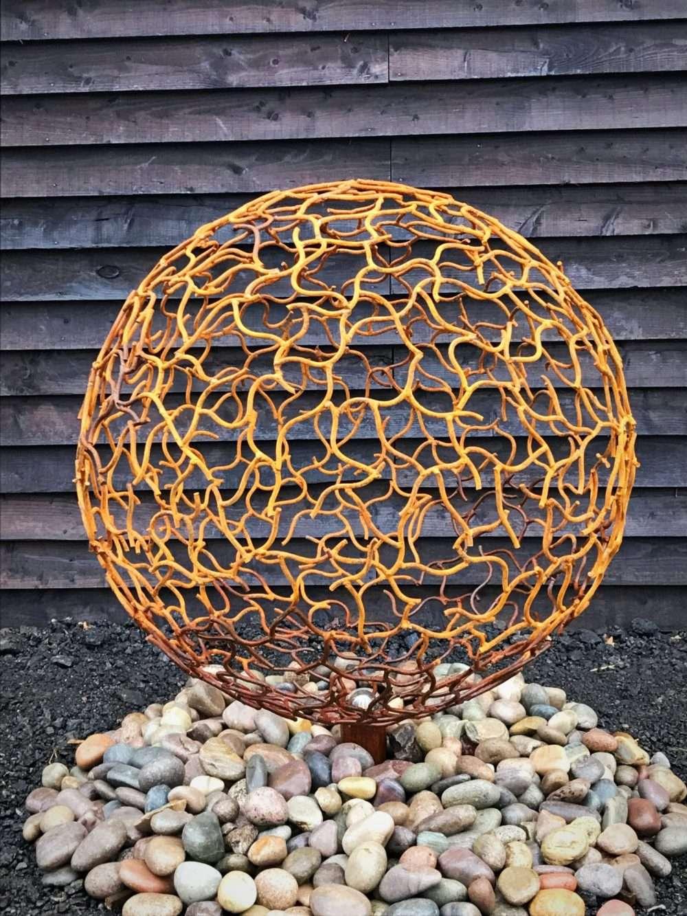 Rustic Sphere Sculpture