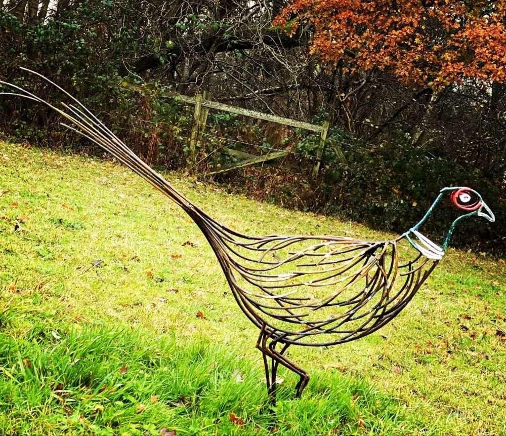 Small Pheasant Sculpture