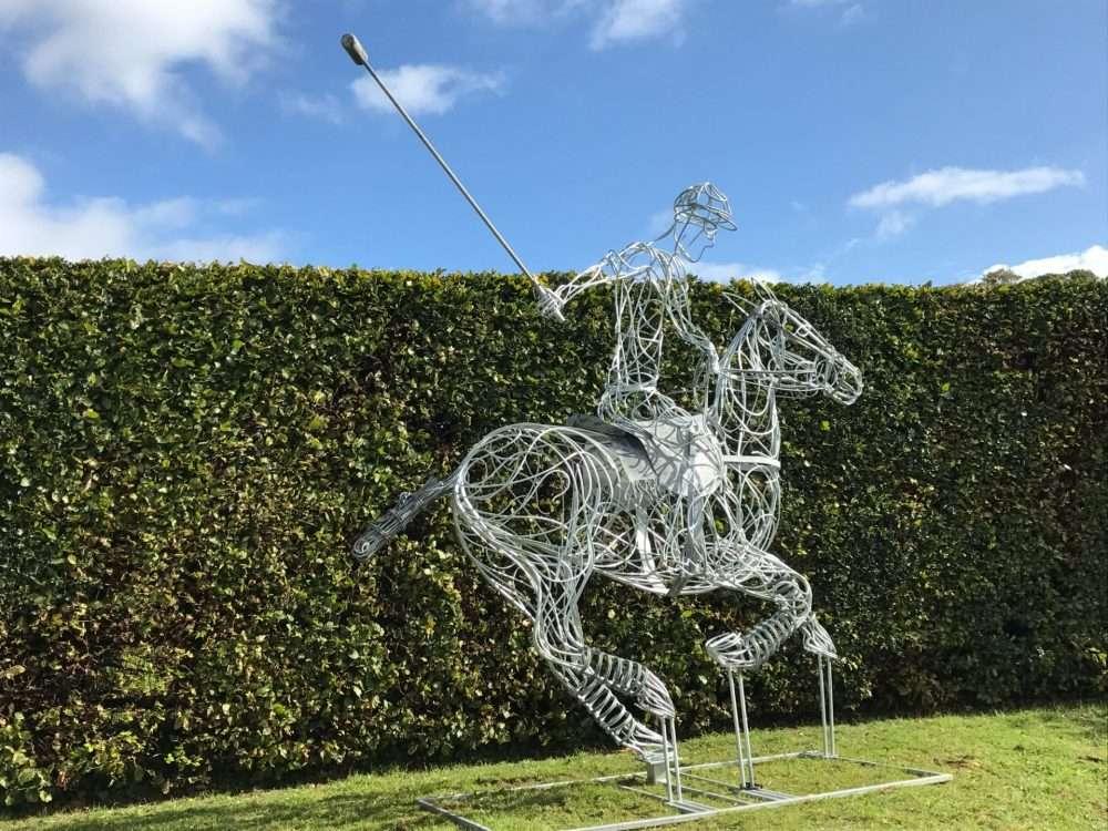 Galvanised Polo Pony Sculpture