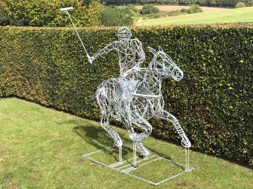 Polo Pony And Rider Sculpture