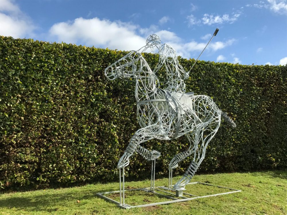 Silver Polo Pony Sculpture