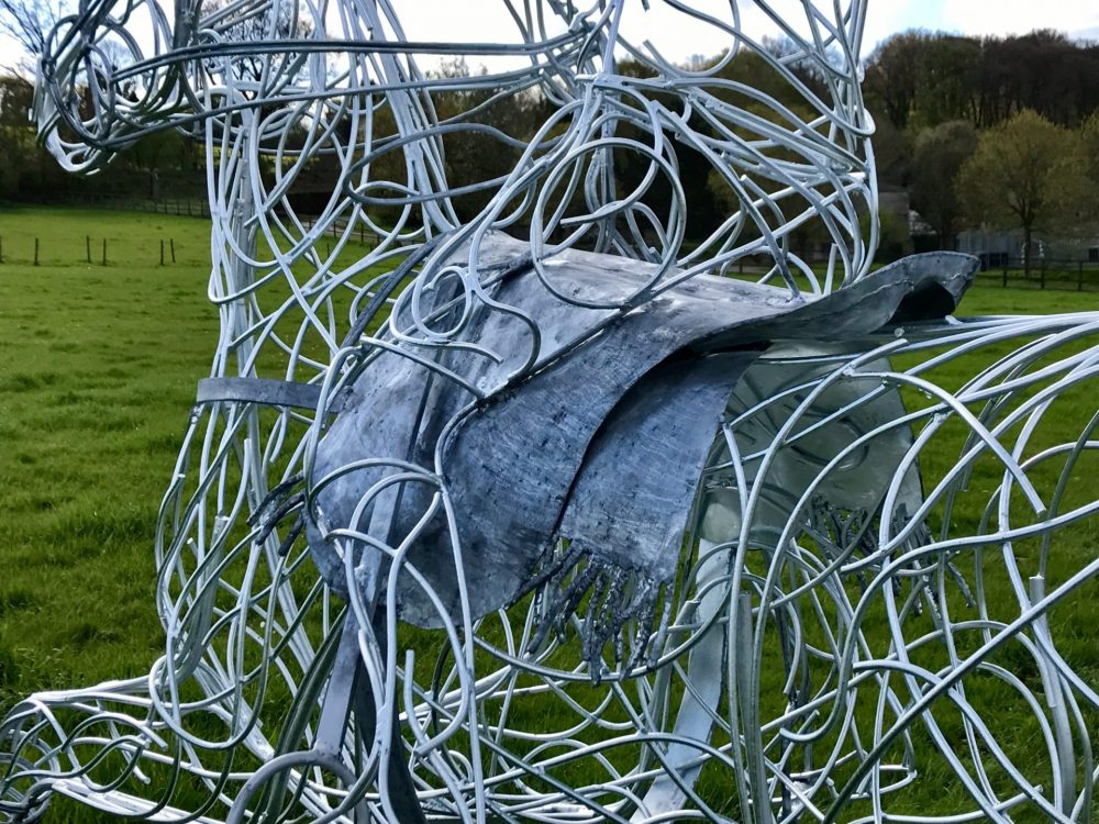 Abstract Polo Pony Sculpture