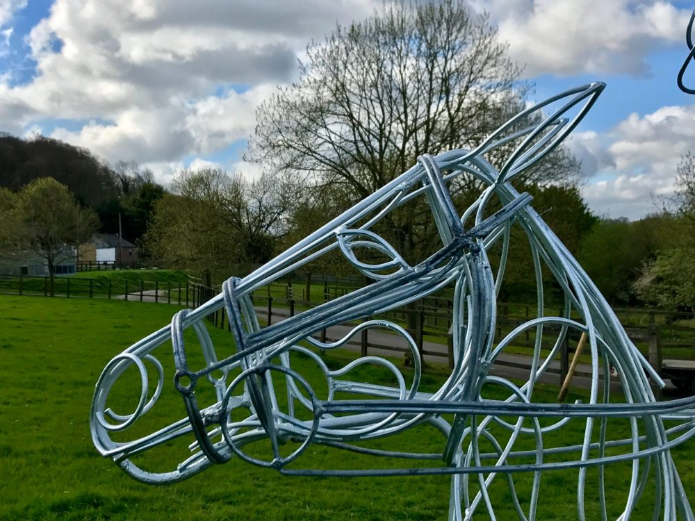Silver Head Of Polo Pony Sculpture