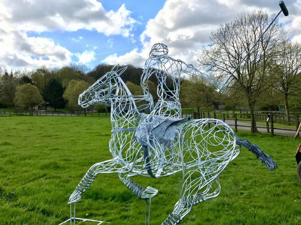 Back Of Polo Pony Sculpture