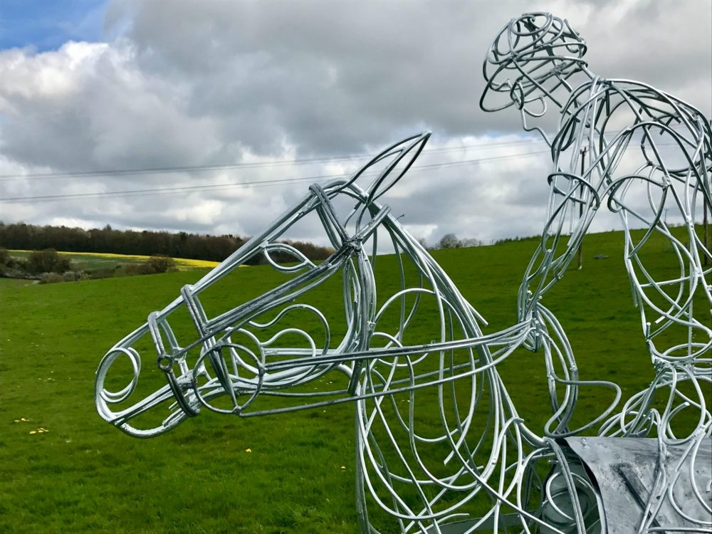 Head Of Polo Pony Sculpture