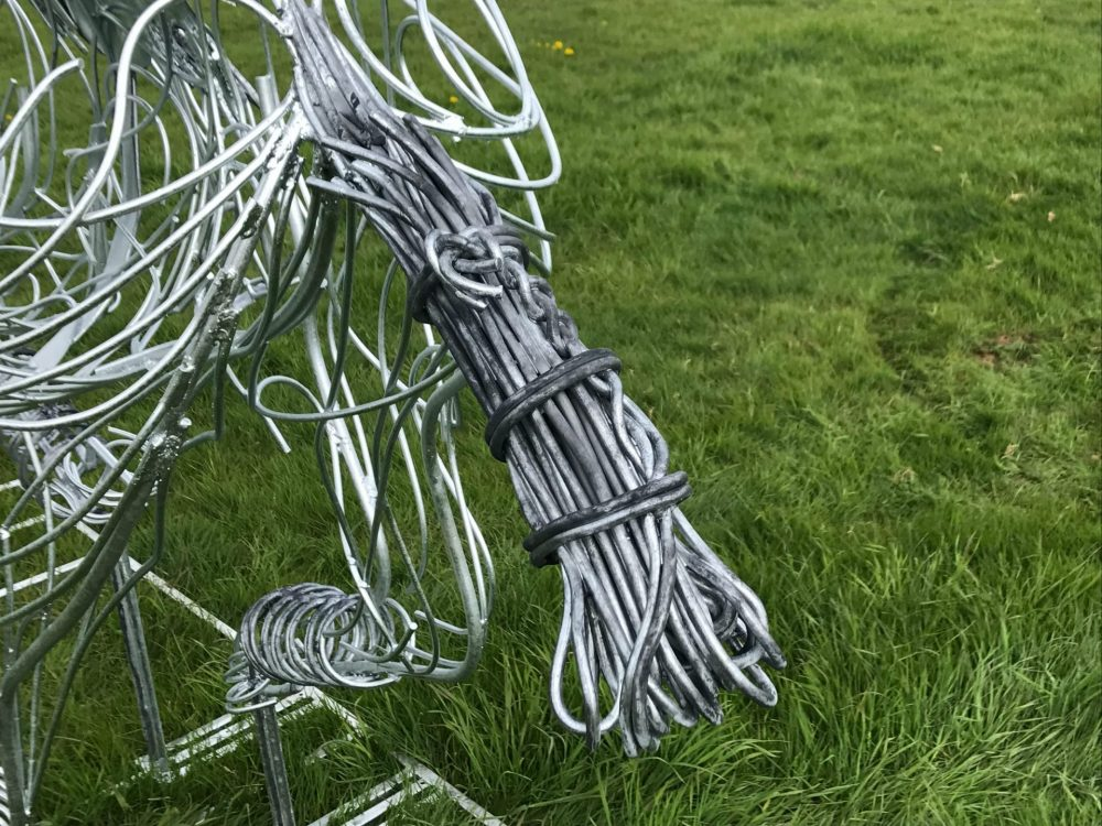 close up of Polo Pony Sculpture