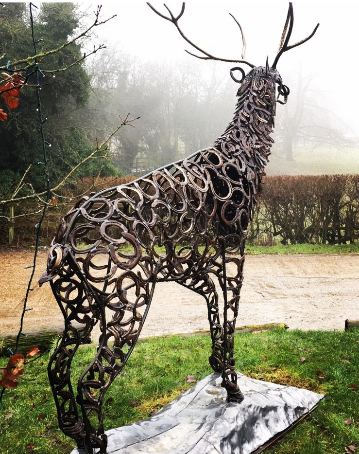 Back Of Prancing Stag