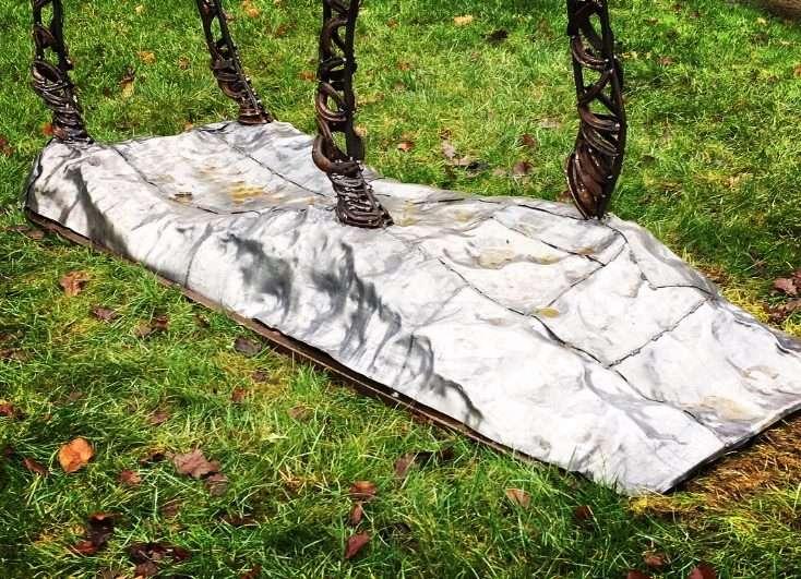 Prancing Stag On White Plinth