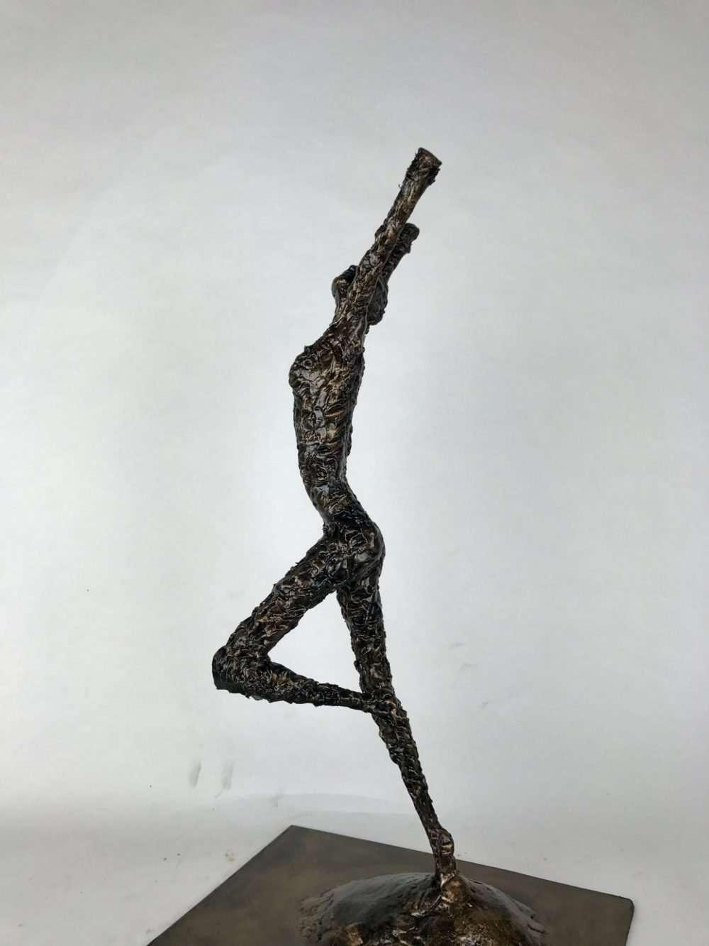 Rustic Release Bronze Man Sculpture