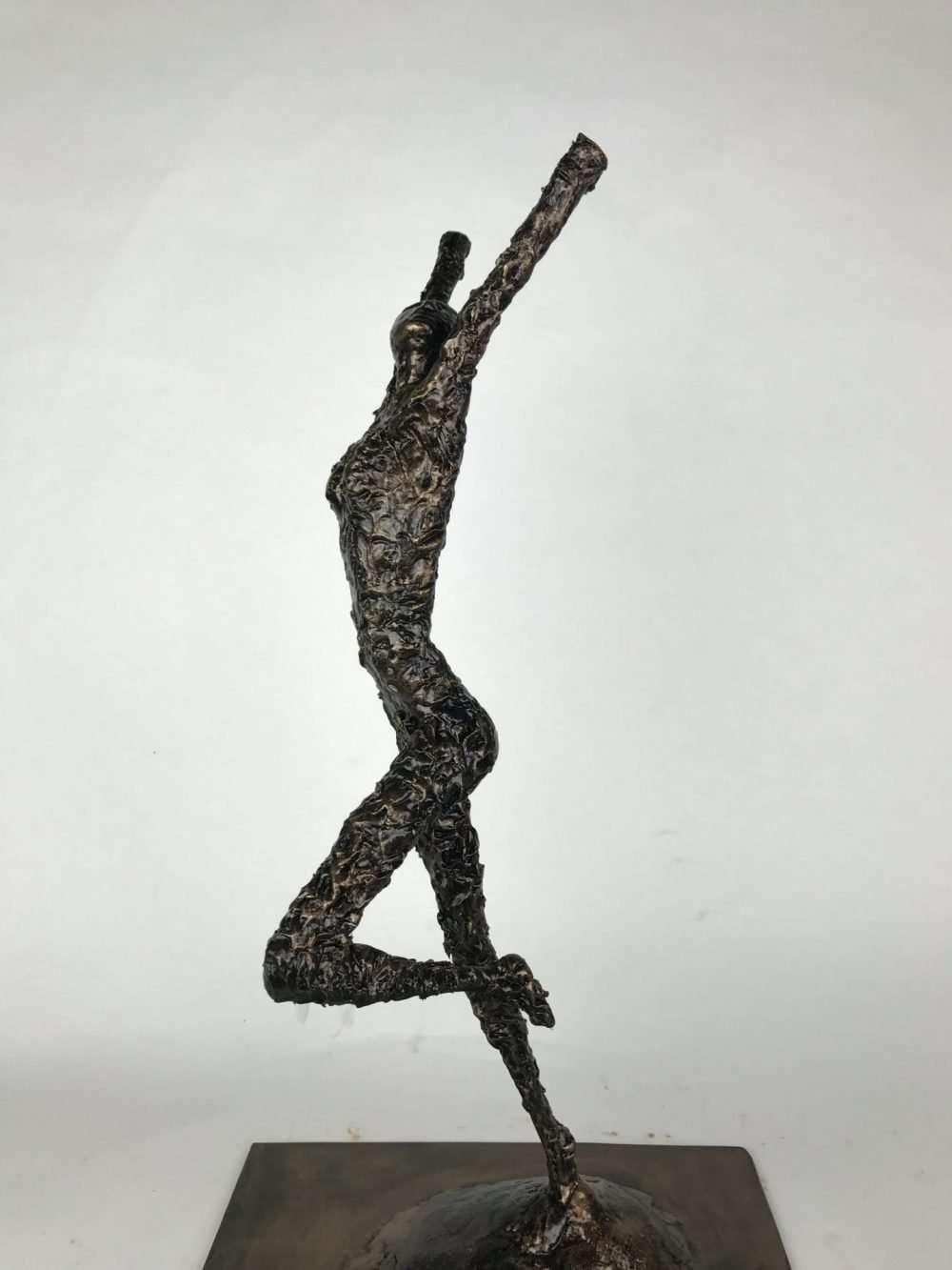 Front View Of Release Bronze Sculpture