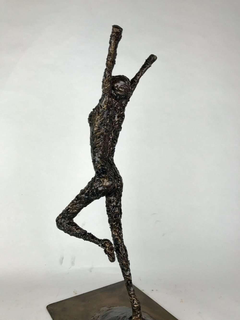 Portrait View Of Release Bronze Sculpture