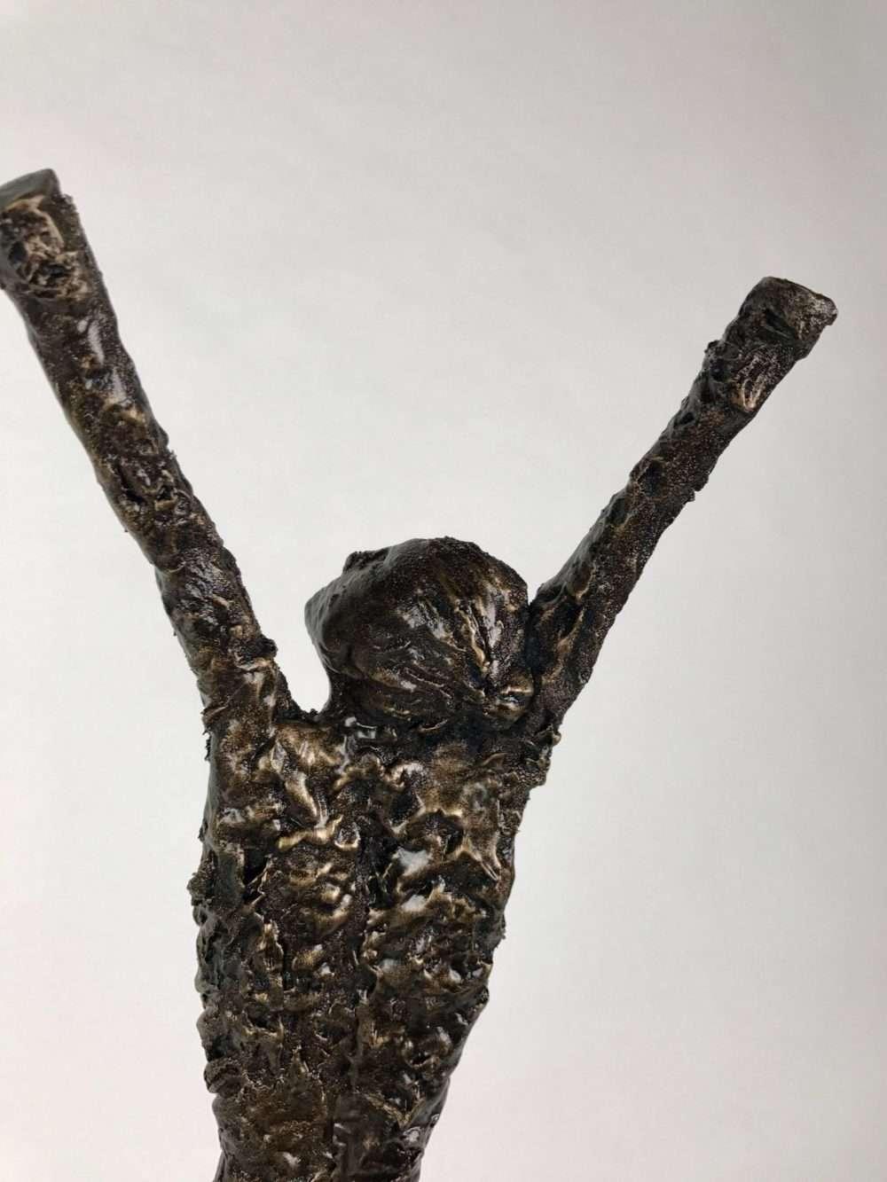 Close Up Of Release Bronze Sculpture