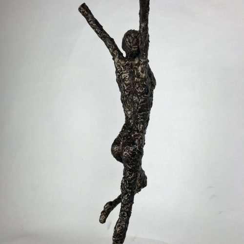 Small Release Bronze Man Sculpture
