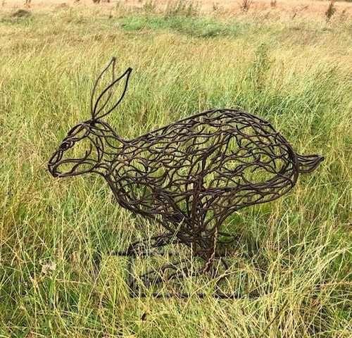 Rustic Hare Sculpture