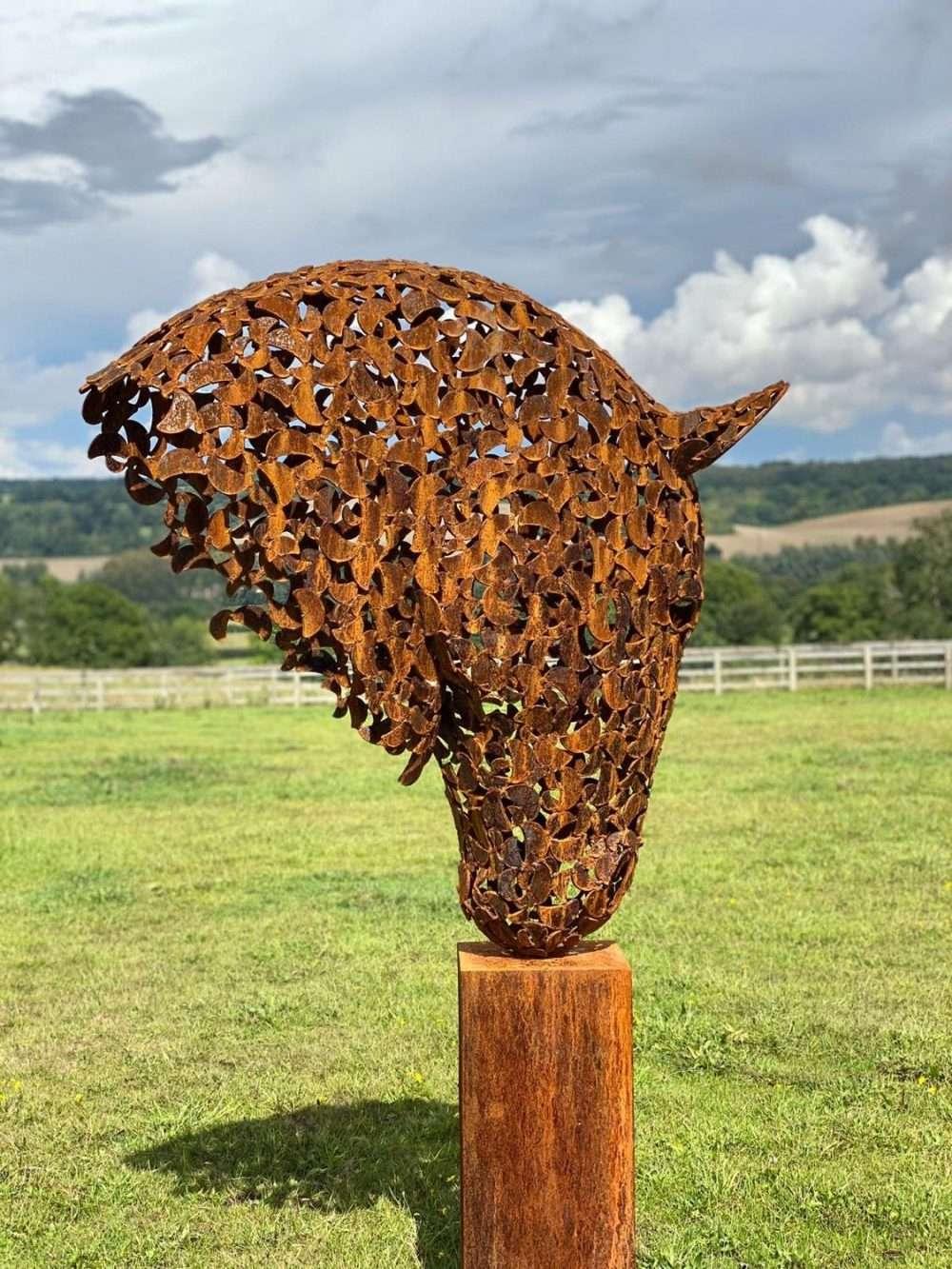 Back of Rustic Horse Head