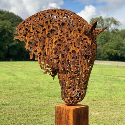 Rustic Brass Horse Head