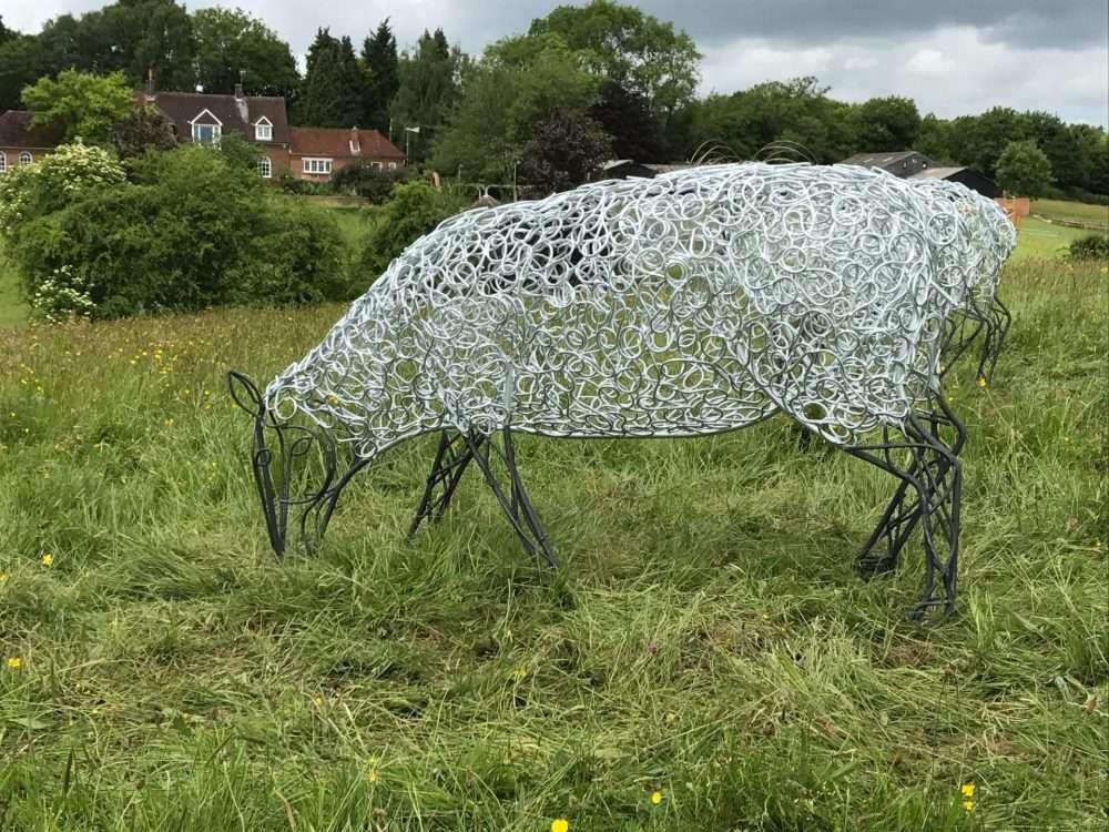 Close Up Of Sheep Sculpture