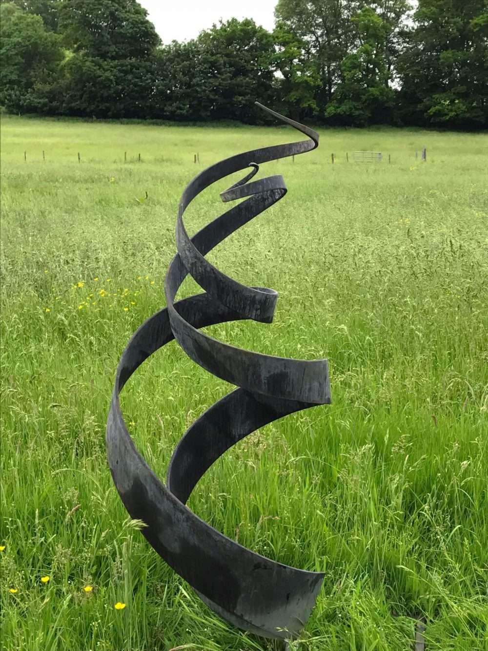 Large Black Spiral Sculpture