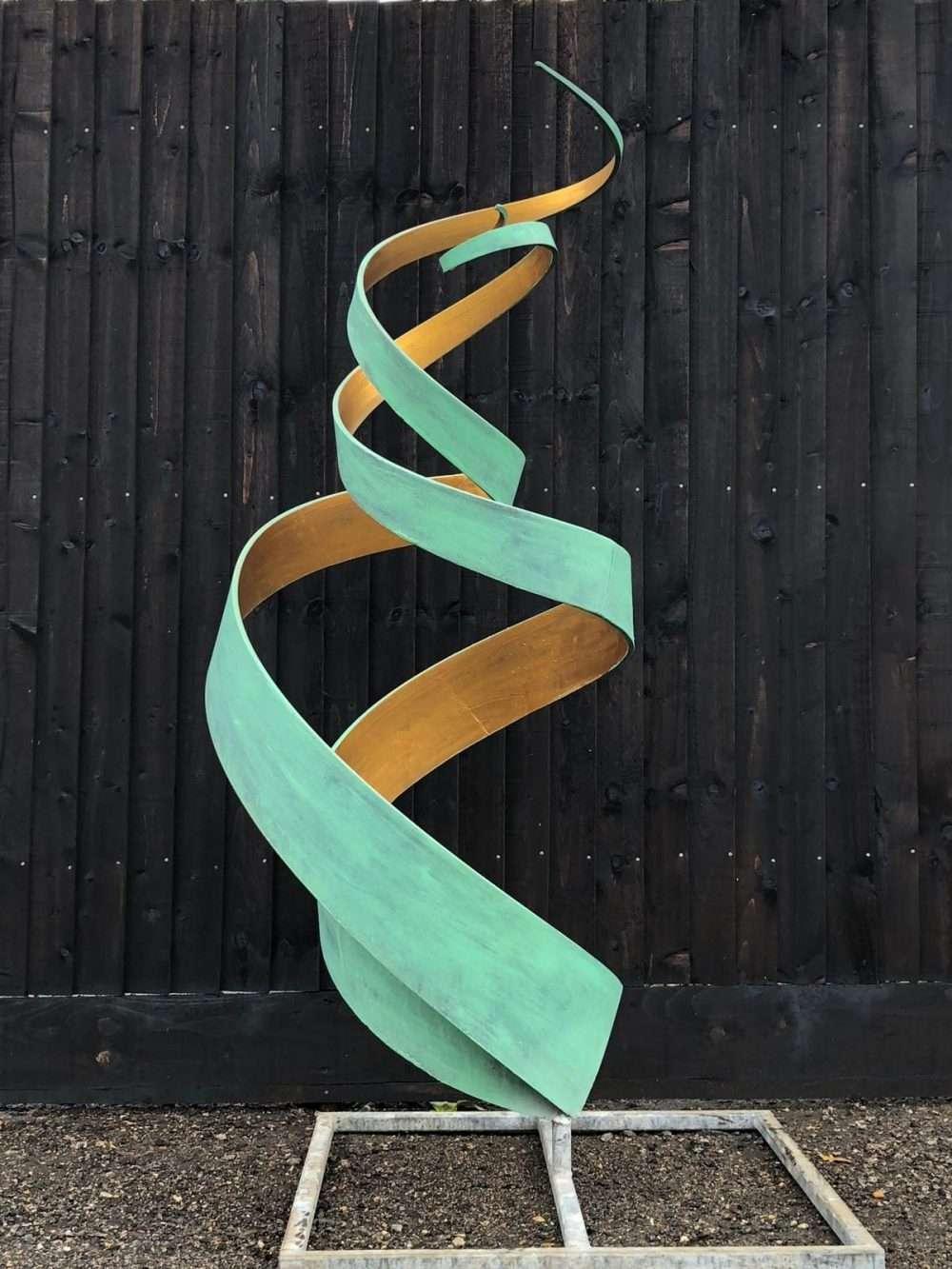 Golden Spiral Abstract Sculpture