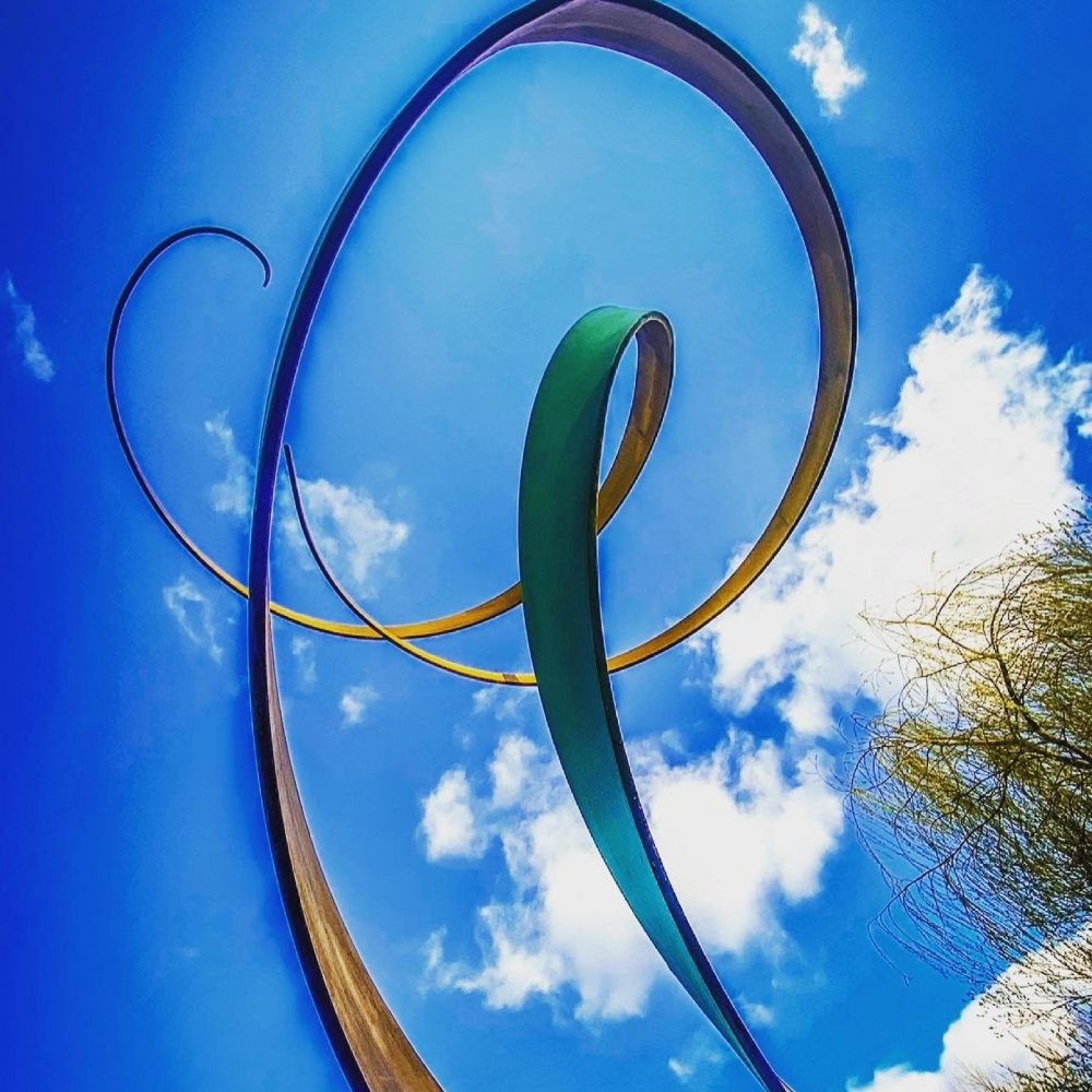 Spiral Abstract Sculpture In The Sky