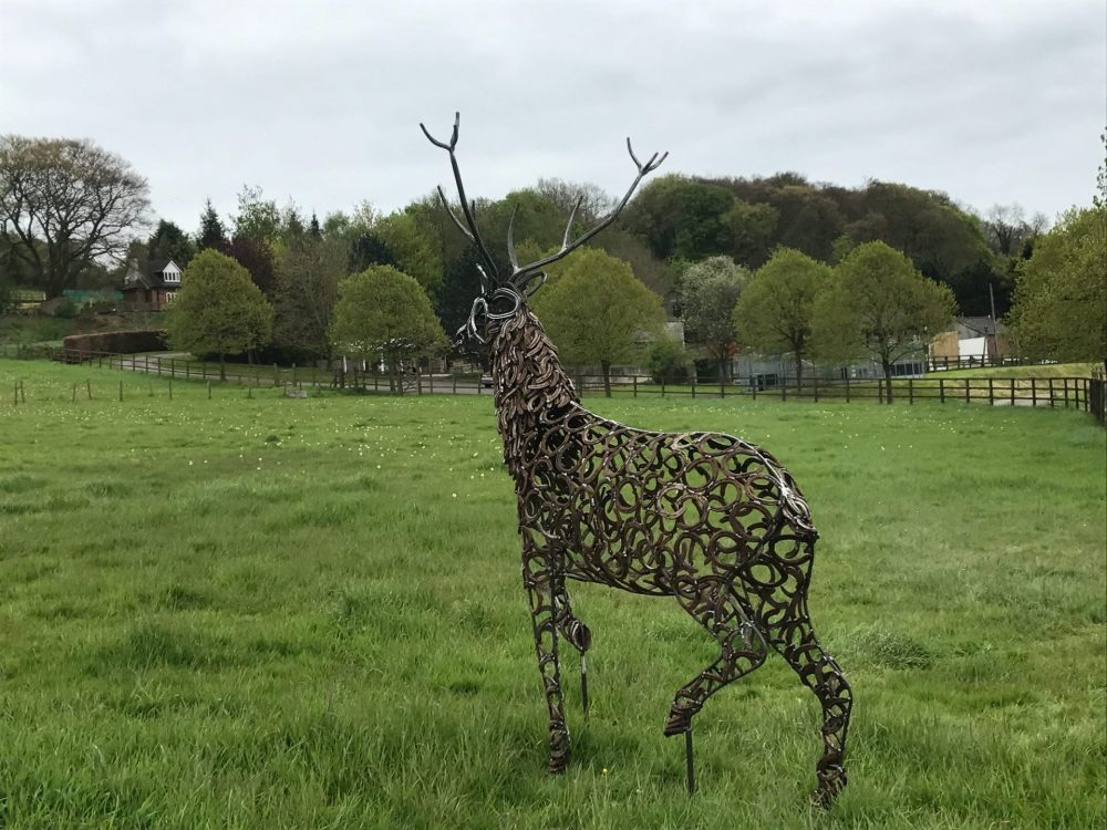 Strutting Stag Sculpture