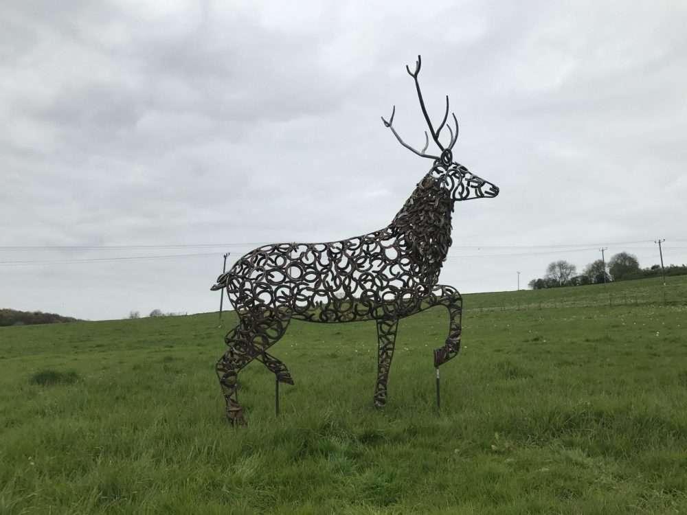 Rustic Strutting Stag Sculpture