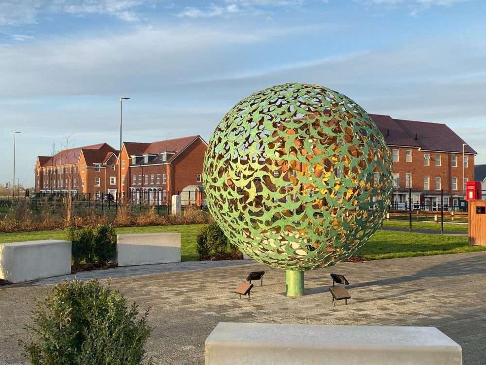 swifts flying sphere sculpture