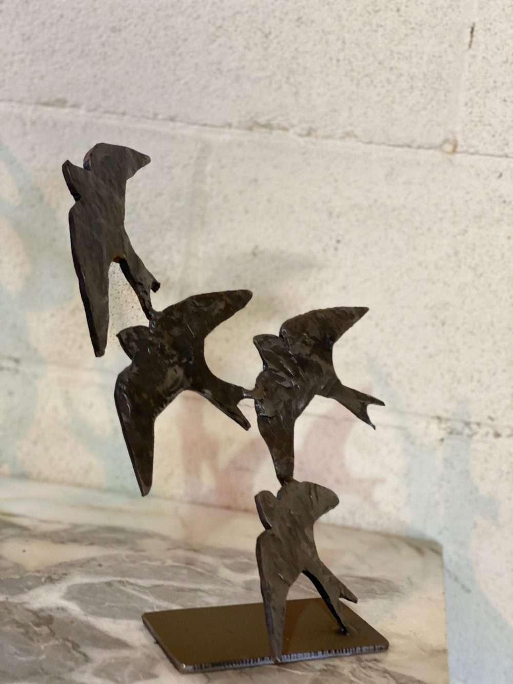 4 Swifts in Flight Sculpture