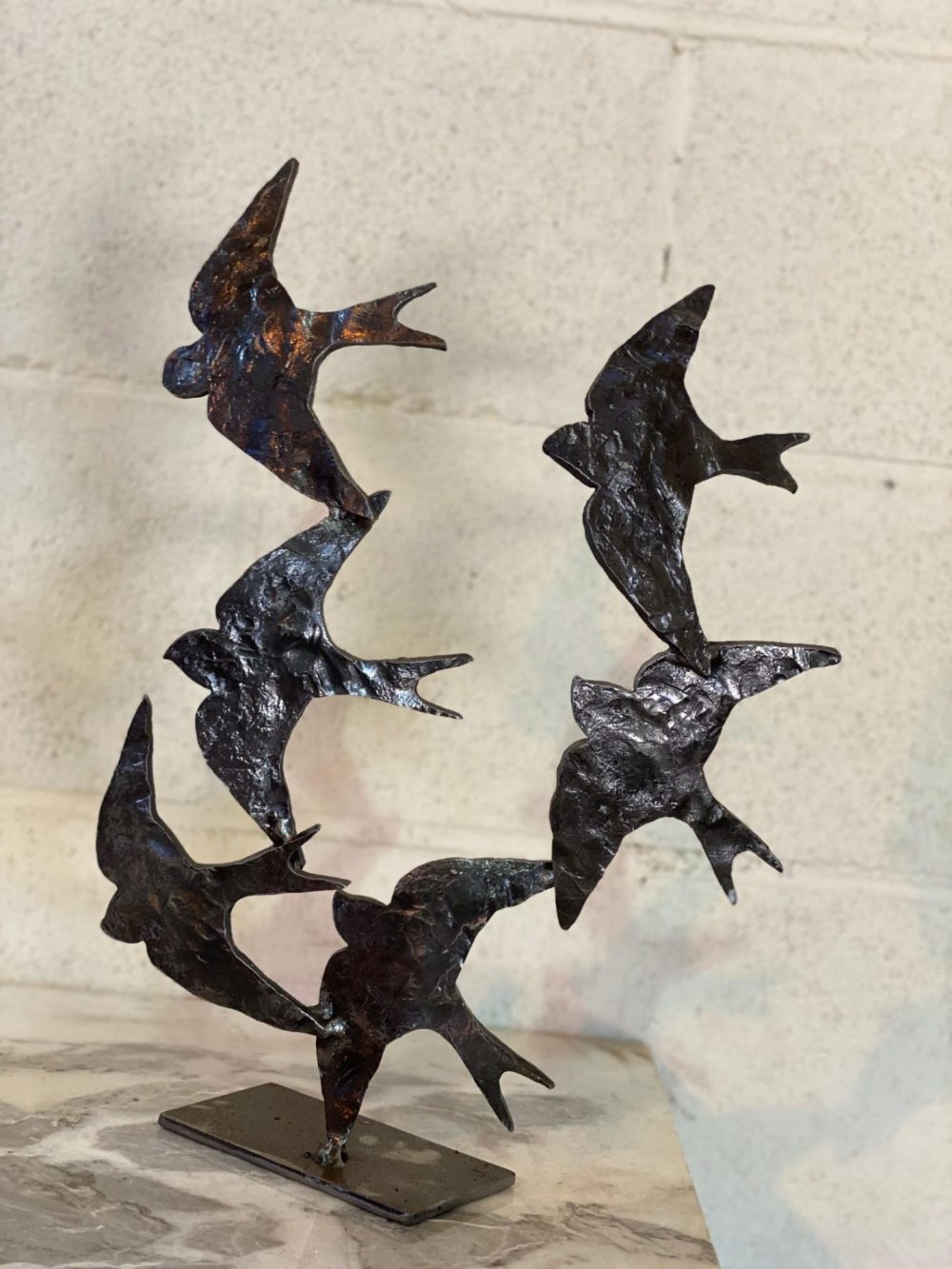 Swifts in Flight Sculpture