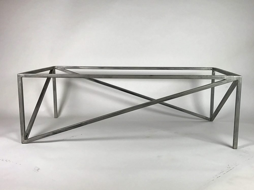 Silver Triangolare Abstract Coffee Table