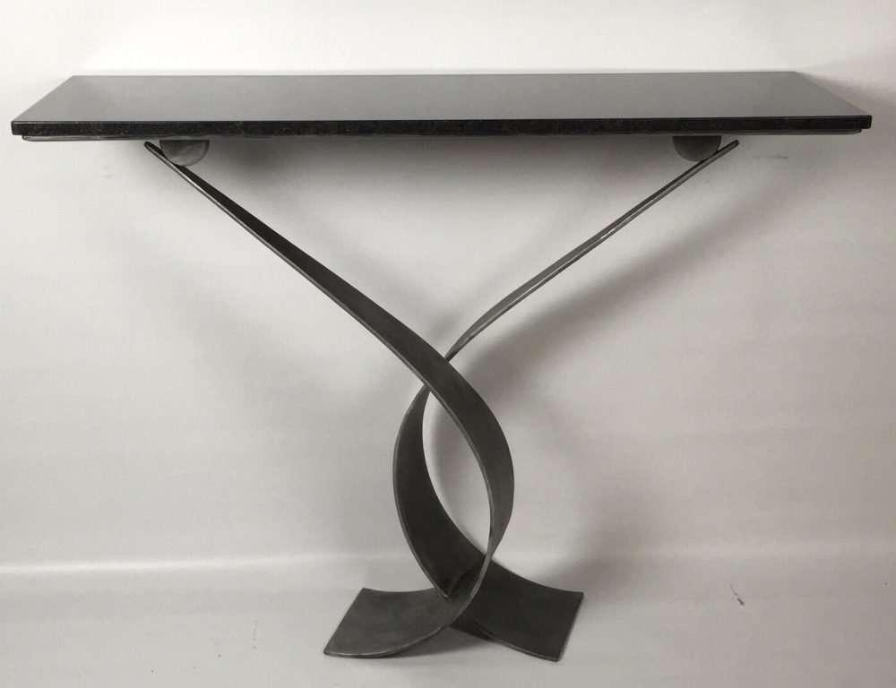 Flat Black Vagues Console Table