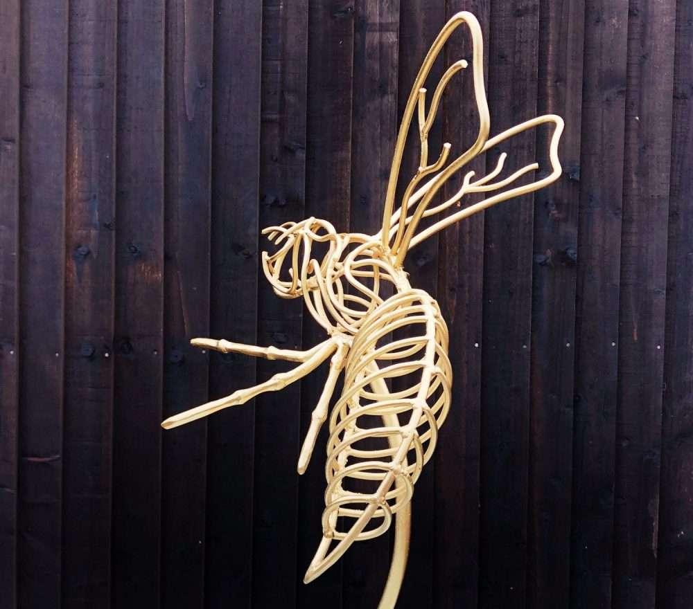 Gold Wasps Sculpture