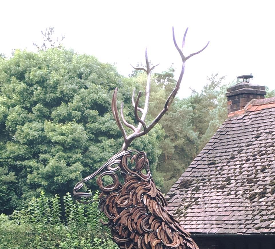 Head Of Stag Sculpture