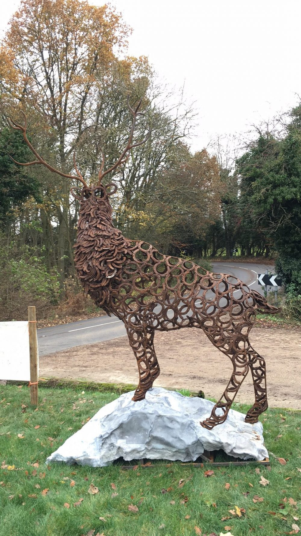 Portrait View Of Stag Sculpture