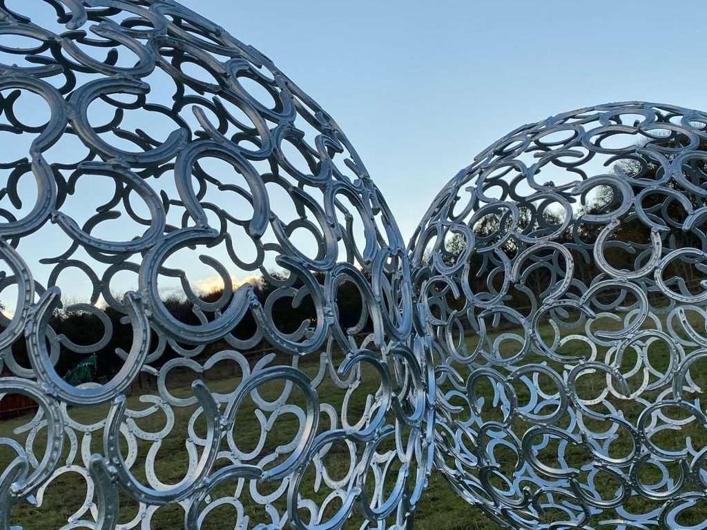 Horse Shoe Sphere Sculpture