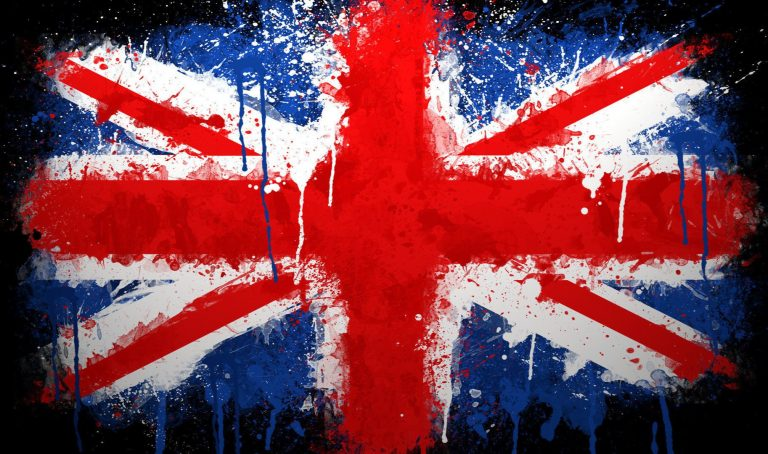 Large Painted British Flag Logo