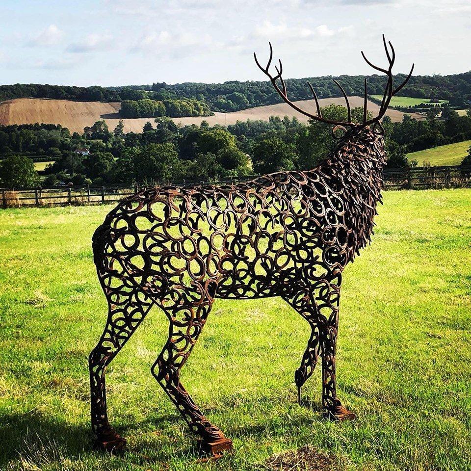 Back Of Horseshoe Stag With Antlers