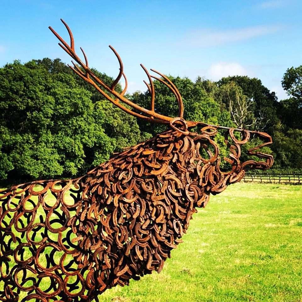 Head Of Brass Ewe Sculpture